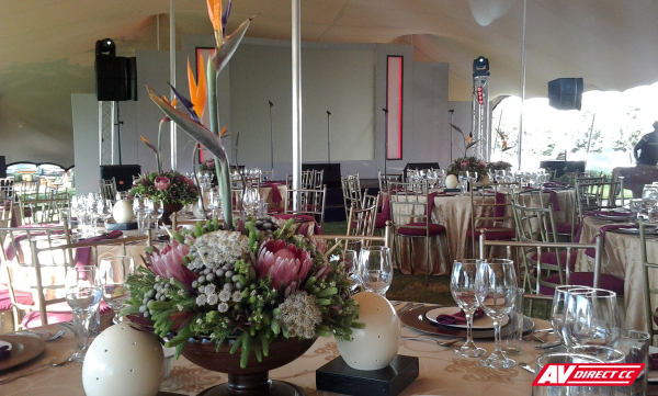 decor arrangement and setup at eikendal wine estate
