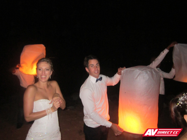 wedding at the grand beach cafe technical equipment supplier