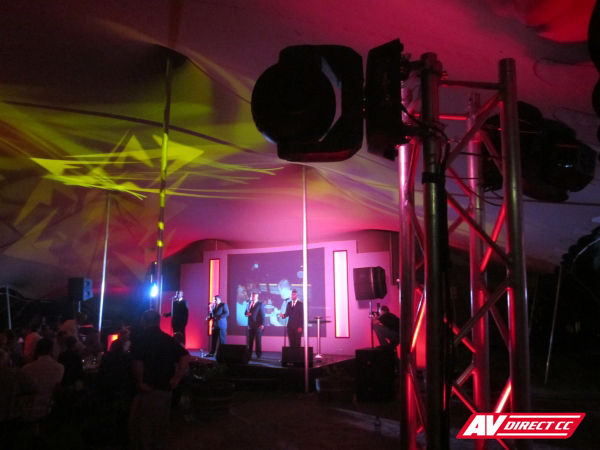 lighting and event setup stellenbosch wine estate eikendal