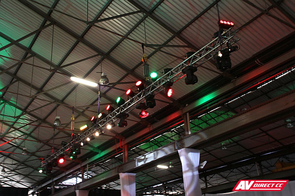 transnet 150th audio visual suppliers - truss lighting