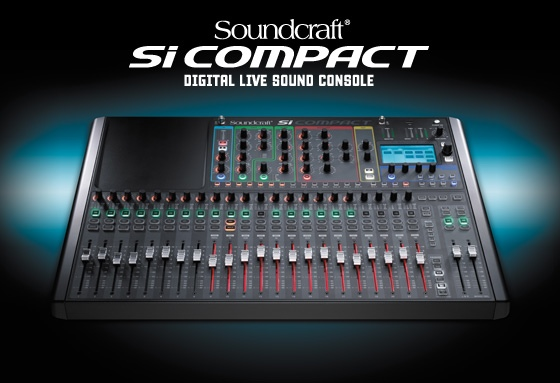 av direct new soundcraft si compact digital console