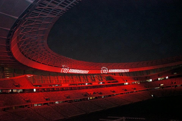 robe 700 spots and 700 wash lights up cape town stadium