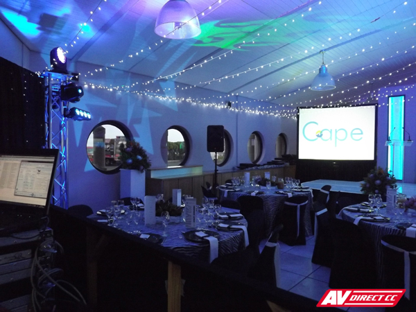 sound lighting and av for year end functions