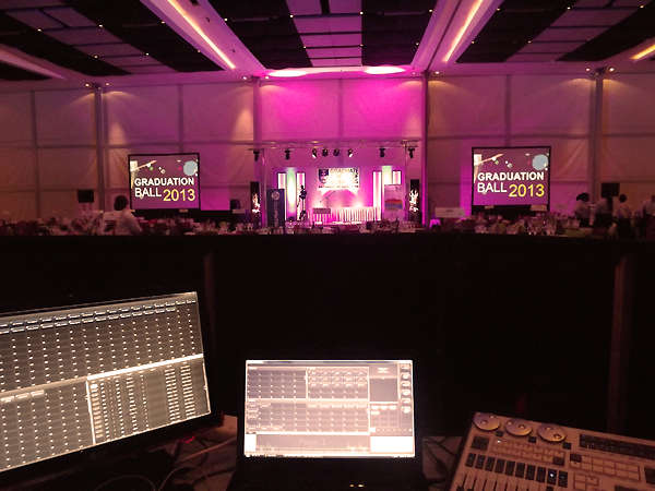 UCT Graduation Ball 2013 - Avolites Titan Mobile Lighting Desk