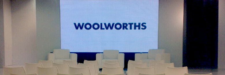 woolworths summer launch 2013 - led screen, stage and set design
