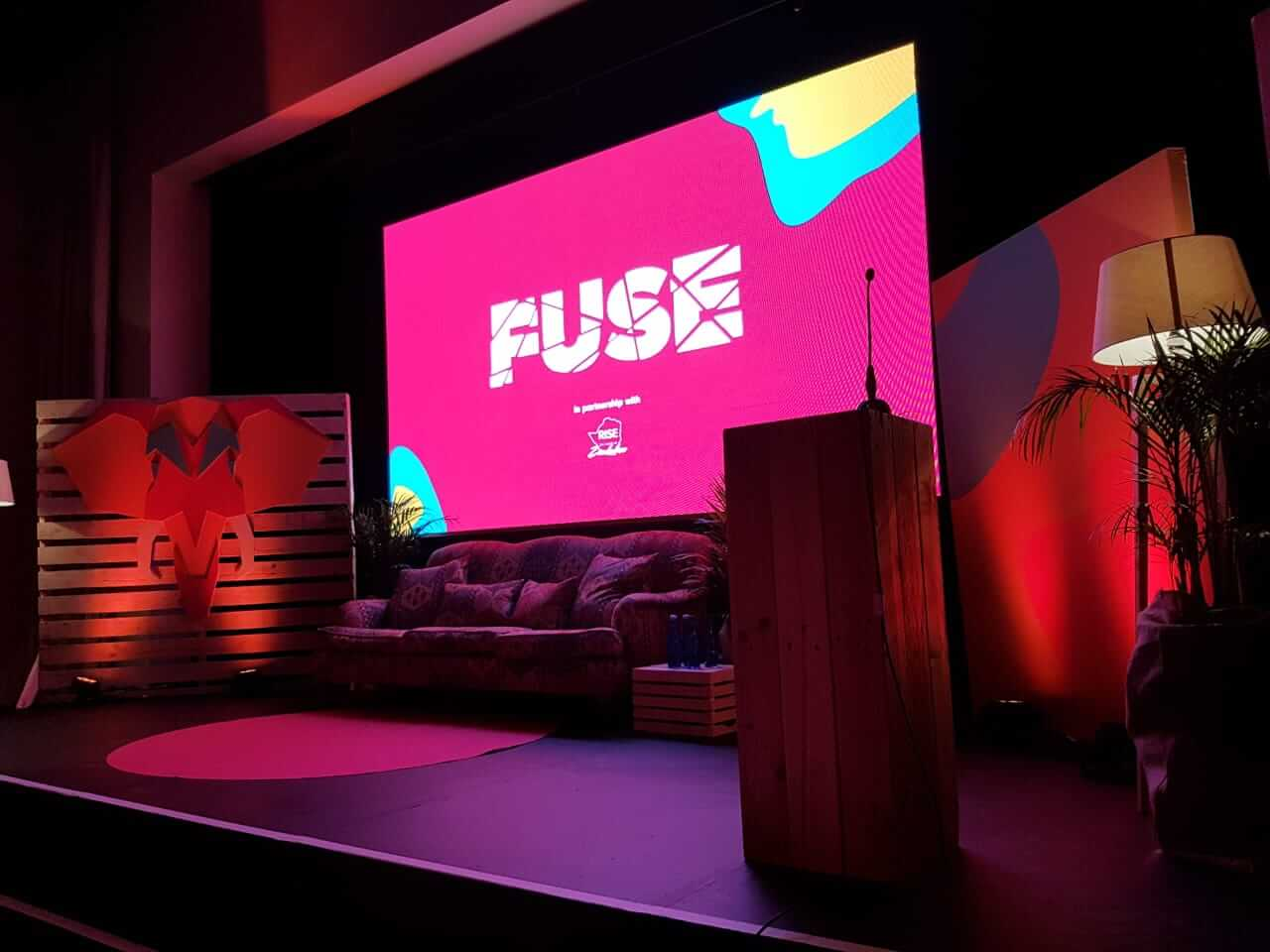 fuse we are africa led screen video wall
