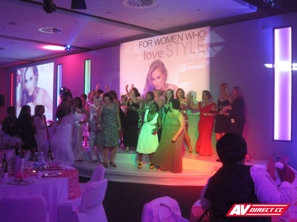 event staging lighting for miglio jewellery