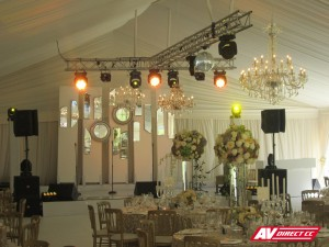 lighting and sound equipment for weddings
