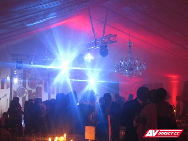 led lighting and technical equipment for weddings