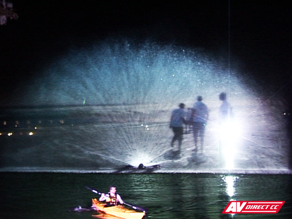 audio visual lazer waterscreen projection by av direct