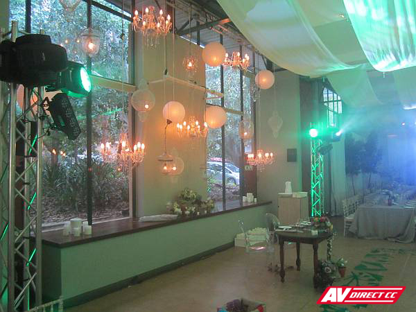 wedding truss lighting hire and supplier cape town