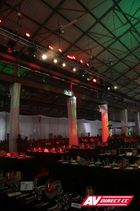 transnet 150th audio visual suppliers - lighting and truss hire