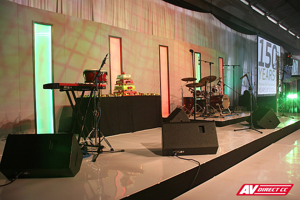 transnet 150th audio visual suppliers - stage setup