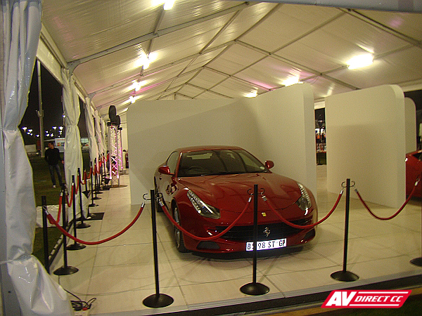 Red Ferrari - Top Gear Festival Durban Set Design 2