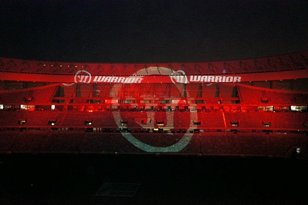 stadium projection and gobo lighting warrior launch sa