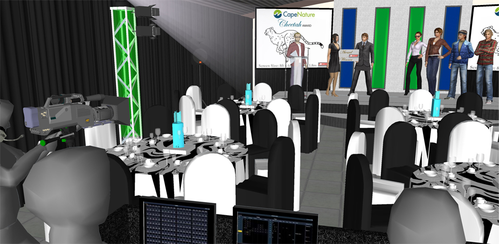 Cape Nature Annual Staff Awards - Ganzekraal - 3d video render and technical