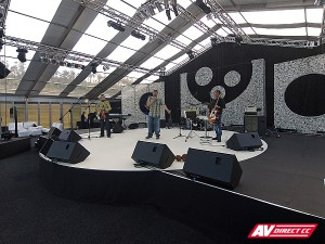 specialized curved arch stage designs and staging hire