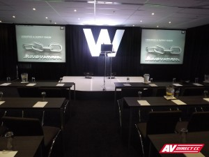 waterfront pavilion set design for woolworths conference