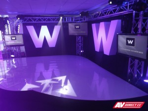 Woolworths gala dinner awards 2012 - set and stage by AV Direct