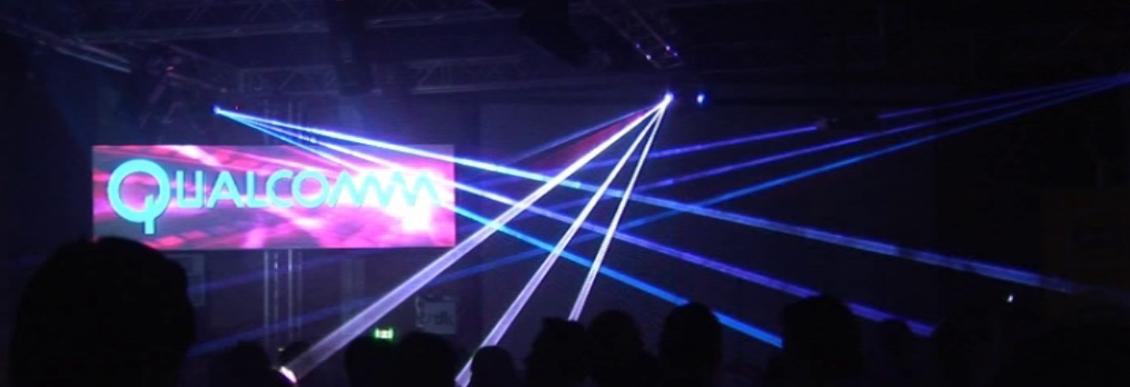 video mapping and laser show