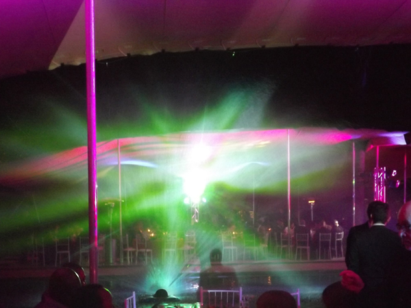 waterscreen - curtain led laser and projection - itron 2013
