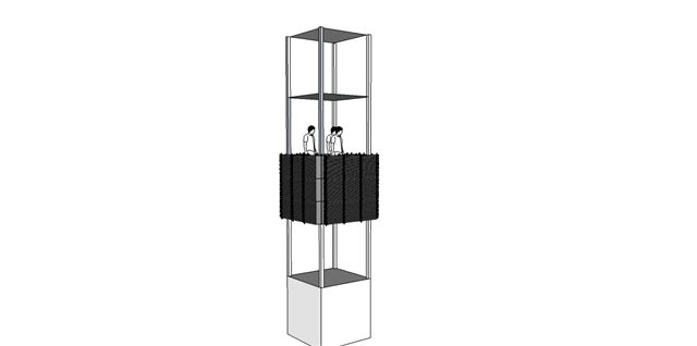 3xdj tower structure with LED Screens