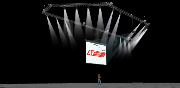 3D Technical venue design - Sierra Leone Venue Technical Management Installation - AV Direct