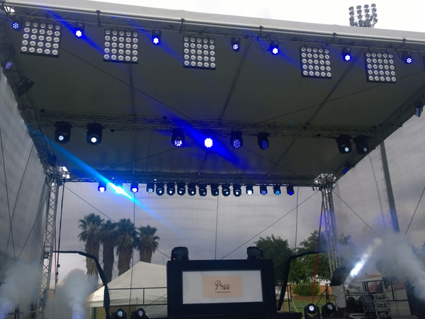 afrotainment stage and lighting rig