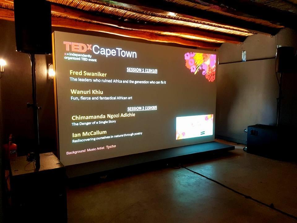 We are africa spier wine estate led screen tedx av direct