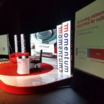 Video wall display for momentum roadshow