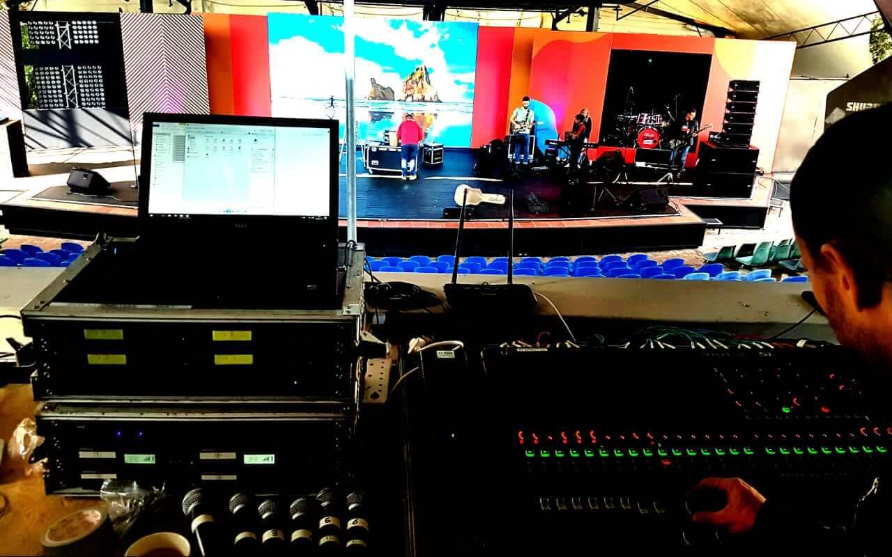we are africa stage, band, audio and led video