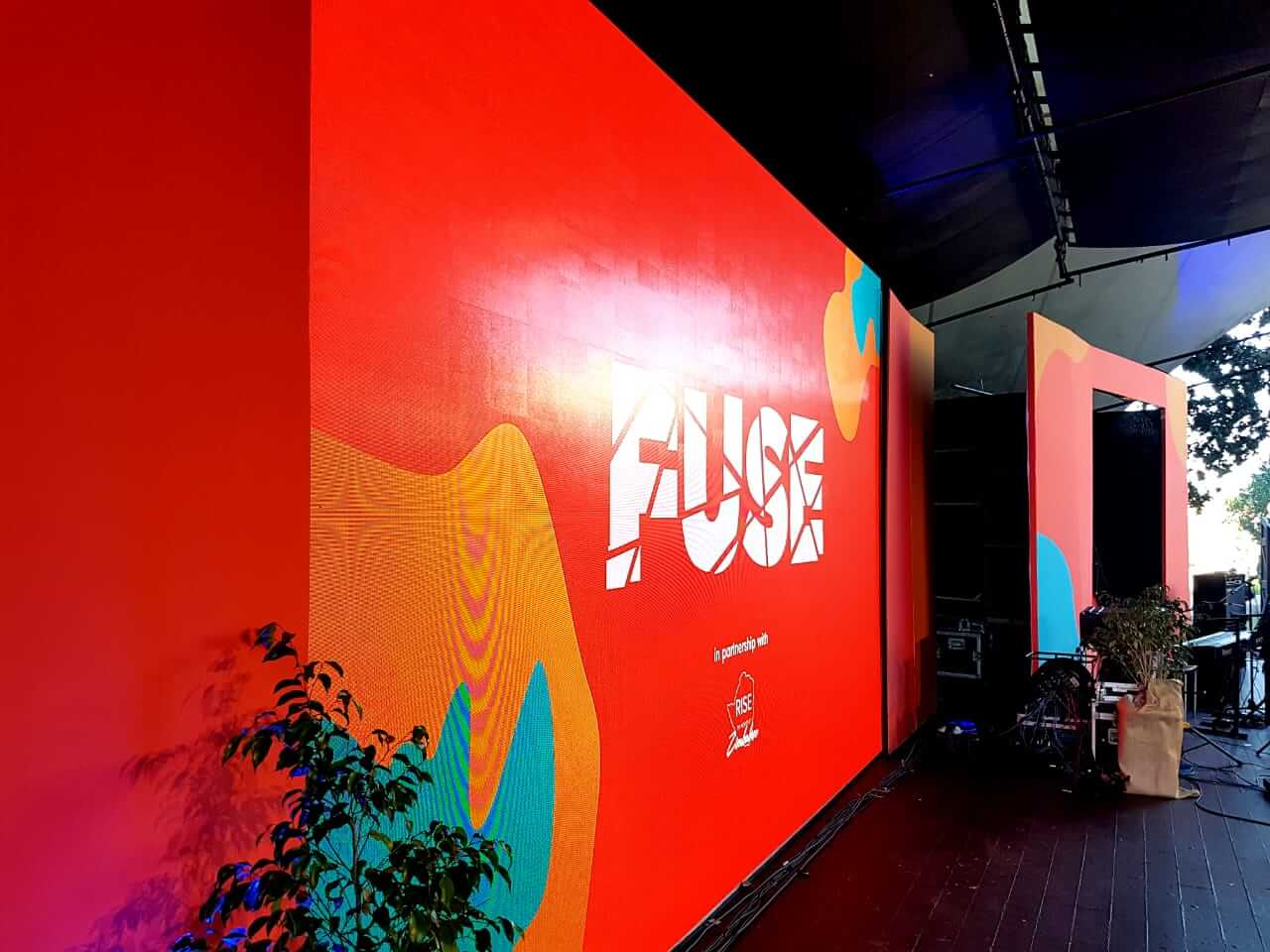 FUSE high resolution led video wall setup at spier