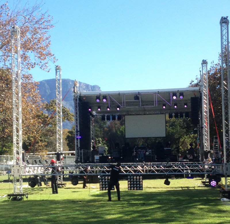 Outdoor Staging, Trussing & Rigging