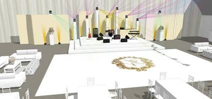 Wedding Dance floor and Stage