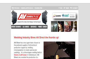Wedding Industry Gives AV Direct The Nod...
